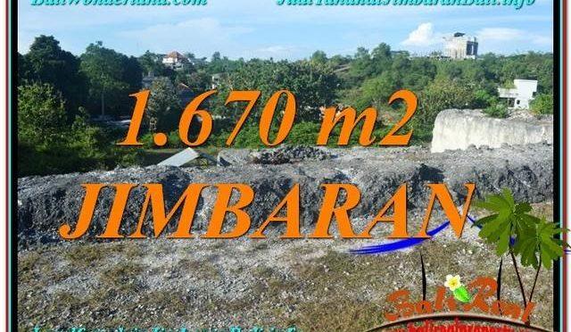 TANAH DIJUAL di JIMBARAN BALI 1,670 m2 Lingkungan Villa